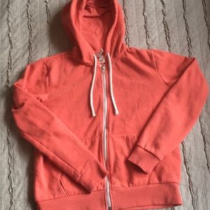H&M zip up hoodie coral color